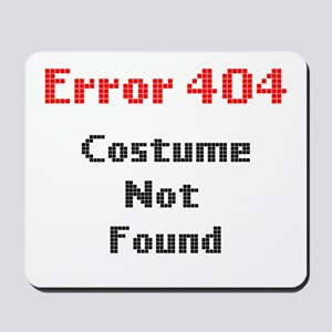 error 404 costume not found Mousepad