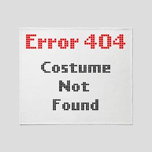 error 404 costume not found Throw Blanket