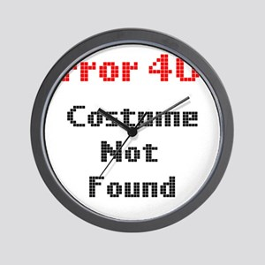 error 404 costume not found Wall Clock
