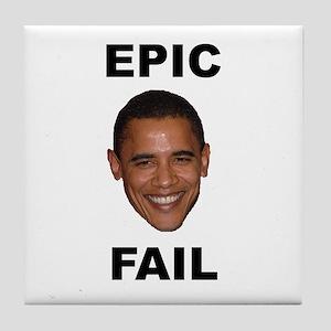 Obama Epic Fail Tile Coaster