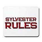 sylvester rules Mousepad