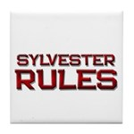 sylvester rules Tile Coaster