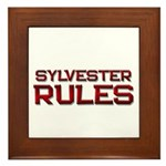 sylvester rules Framed Tile