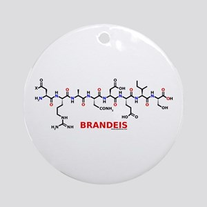 Brandeis name molecule Ornament (Round)