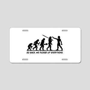 Go Back Evolution Aluminum License Plate