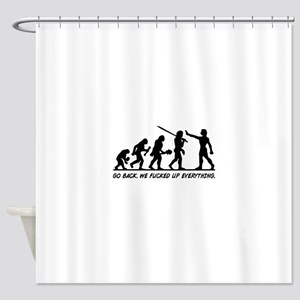 Go Back Evolution Shower Curtain