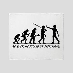 Go Back Evolution Throw Blanket
