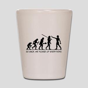 Go Back Evolution Shot Glass