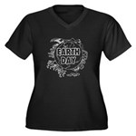 Earth Day 2011 Women's Plus Size V-Neck Dark T-Shi