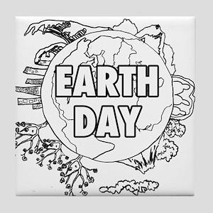 Earth Day 2011 Tile Coaster