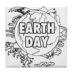 Earth Day 2011 Tile Coaster