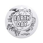 Earth Day 2011 Ornament (Round)