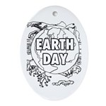 Earth Day 2011 Ornament (Oval)
