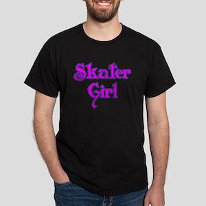 Skater Girl Black T-Shirt