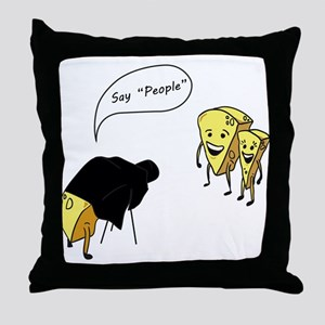 Say People Throw Pillow