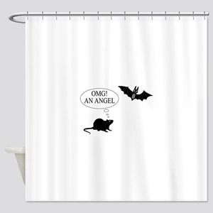 Omg An angel Shower Curtain