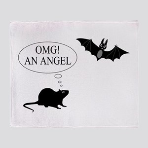 Omg An angel Throw Blanket