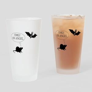 Omg An angel Drinking Glass