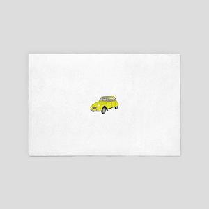 2cv retro yellow car 4' x 6' Rug