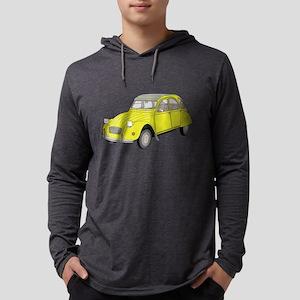 2cv retro yellow car Long Sleeve T-Shirt