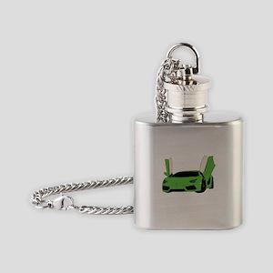 Aventador green Flask Necklace