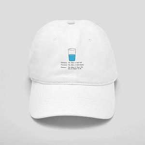 Optimist pessimist engineer Baseball Cap