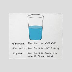 Optimist pessimist engineer Throw Blanket