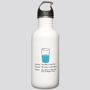 Optimist pessimist engineer Water Bottle