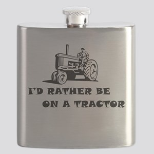 Id rather be on a tractor Flask