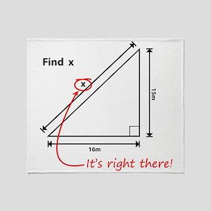 Find x Throw Blanket