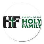 Church Of The Holy Family Round Car Magnet