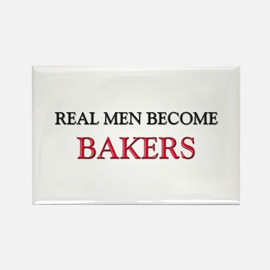 Real Men Become Bakers Rectangle Magnet