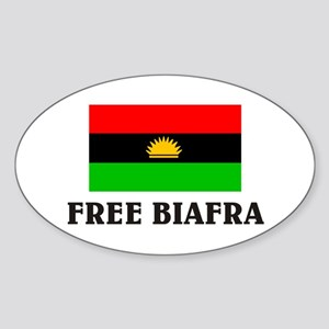 Free Biafra Oval Sticker