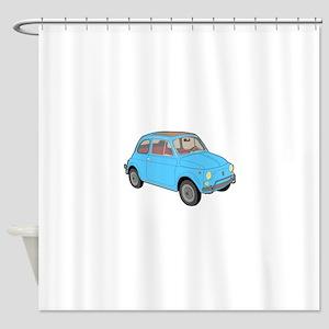 500 1957 blue Shower Curtain