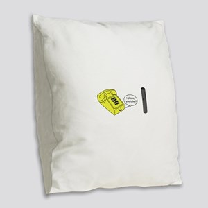 I phone you tube Burlap Throw Pillow