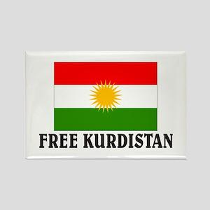 Free Kurdistan Rectangle Magnet
