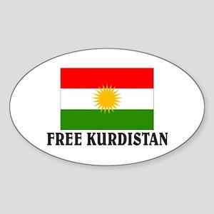 Free Kurdistan Oval Sticker