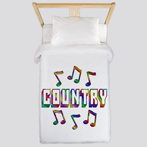 Country Music Twin Duvet Cover