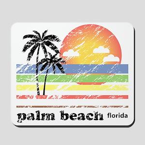 Palm Beach Florida Vintage Mousepad