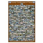 County Courthouses Of Texas Large Brown Poster