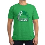 Green Surfers Men's Fitted T-Shirt (dark)