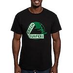 Green Surfers Men's Fitted T-Shirt (dark)
