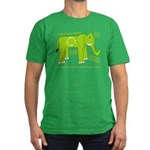 Elephant Facts Men's Fitted T-Shirt (dark)