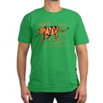 Tiger Facts Men's Fitted T-Shirt (dark)