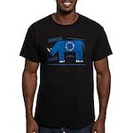 Rhino Facts Men's Fitted T-Shirt (dark)