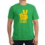 Peace It Out! Men's Fitted T-Shirt (dark)