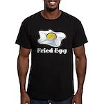 Fried Egg Men's Fitted T-Shirt (dark)