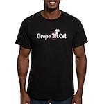 Grape Cat Men's Fitted T-Shirt (dark)