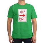 Keep Right Men's Fitted T-Shirt (dark)