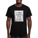 Slower Traffic Men's Fitted T-Shirt (dark)